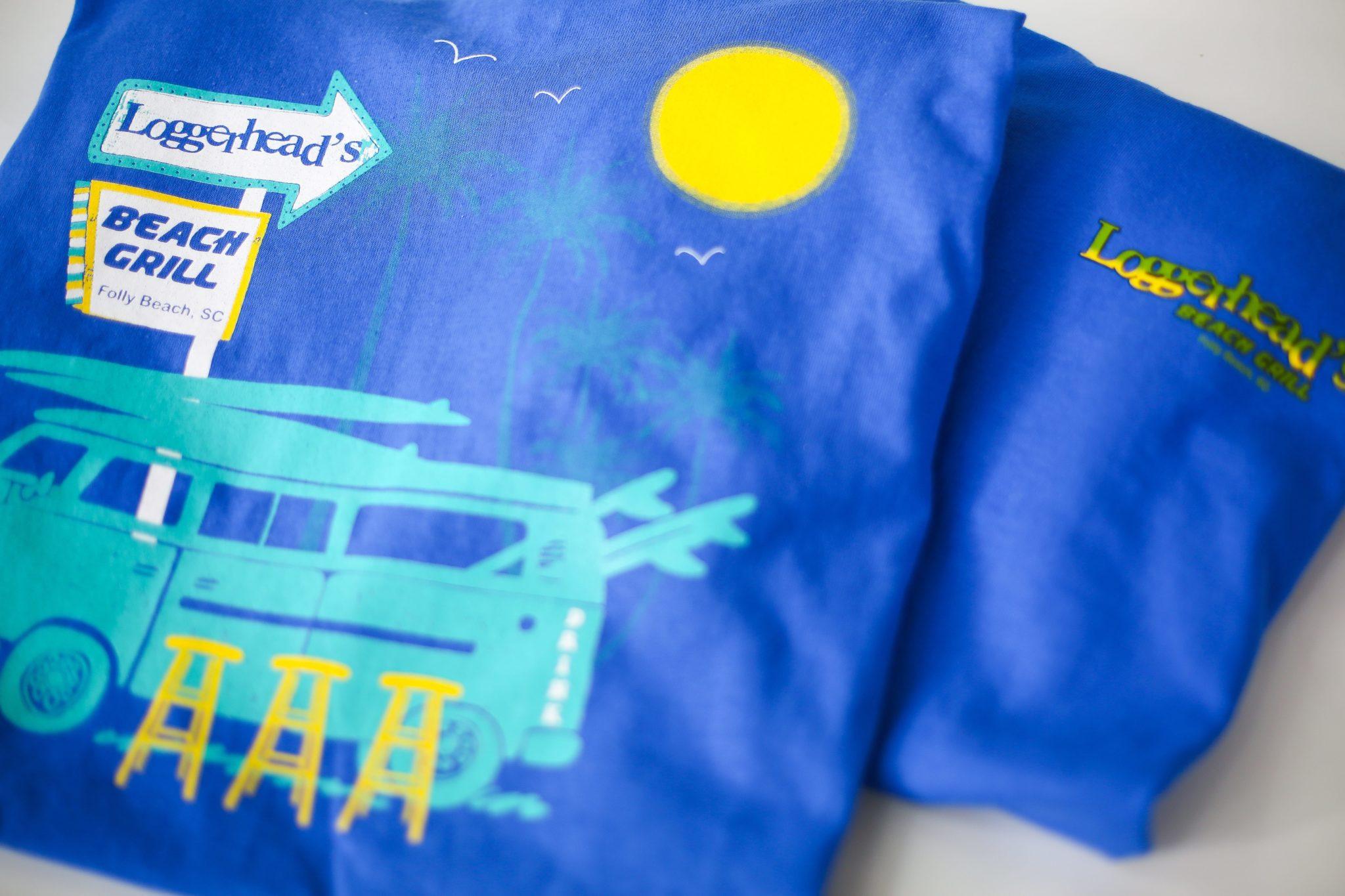 charleston cotton exchange custom printed blue shirts